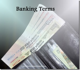 The terms used in banking  business such Security Dealer,Selective Credit
