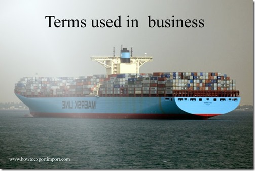 Terms used in  business such as Clearance,Clearing , Clicklexia,Close-end credit,Closing Statement etc