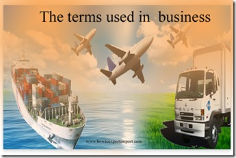 The terms used in  business such as V-shaped recession,Wager Policy,Waiver,Walking Papers, Watchdog,WATS ,Wayzgoose etc