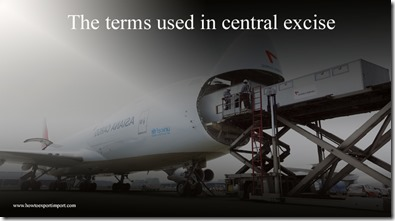 The terms used in central excise such as Automated Traffic Recorder ,Average Vehicle Occupancy,Background Concept etc