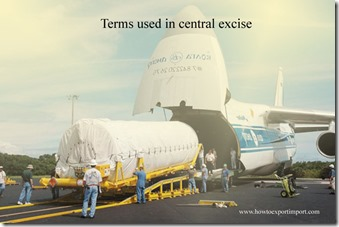 Terms used in central excise such as Ferry Boat,Forecasting,Federal Fiscal Year,Federal Register etc