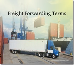 Terms used in freight forwarding such as Dunnage,Duty Free Zone,Duty Rates,  Electronic Data Interchange,Electronic Data Processing,