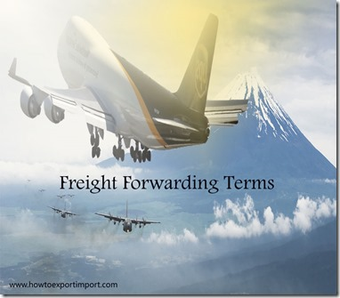 Terms used in freight forwarding such as Importation Point,In Bond,In Transit,Inherent vice,Institute Clauses,Insurable Interest etc