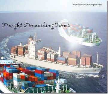 Terms used in freight forwarding such as Master Air Waybill,Master Bill Of Lading,Material Circumstanc
