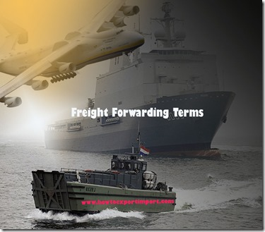 Terms used in freight forwarding such as Multimodal Transport,Network Planning,Network Optimization,Neutral Body,Nonconformity etc