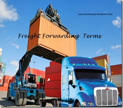 Terms used in freight forwarding such as pivot weight,place of political risk,port of arrival,port authority