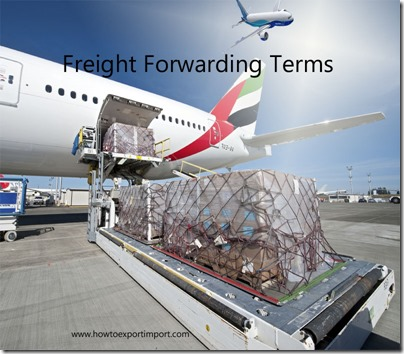 Terms used in freight forwarding such as Business Process Model,Bunker Surcharge,Bunker Adjustment Factor etc