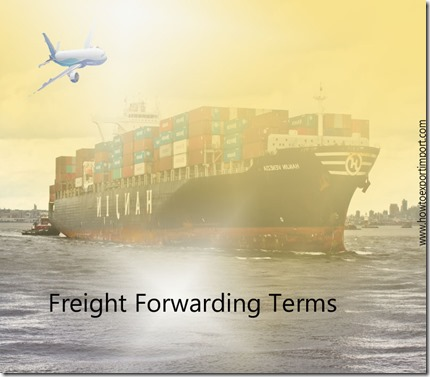 Terms used in freight forwarding such as insurance and freight,cabotage,currency adjustment factor ,cage code etc