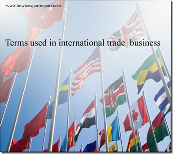 Terms used in international trade  business such as Alternative dispute resolution,AMCHAMS,Amendment,