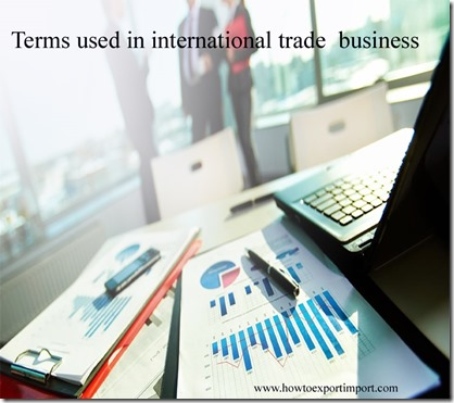 Terms used in international trade  business such as Forward contract,Forwarding agent,