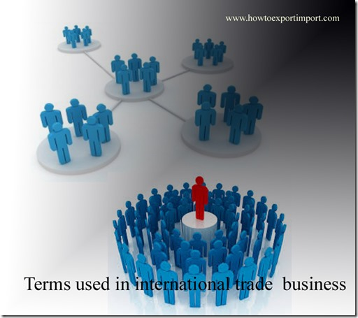 Terms used in international trade business such as Nuclear suppliers group,