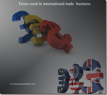 Terms used in international trade  business such Purchase Option,Protest,Pro forma invoice,Quota,Quotation etc