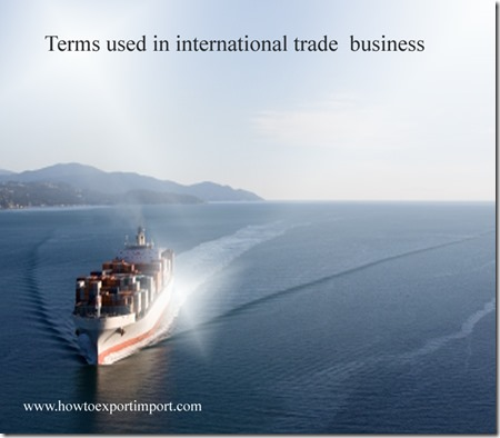 Terms used in international trade  business such as Release note,Remitting bank,Revenue ton,Revolving letter of credit ,