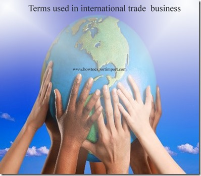 Terms used in international trade  business such as Sanitary Certificate,Sale-leaseback,Service contra