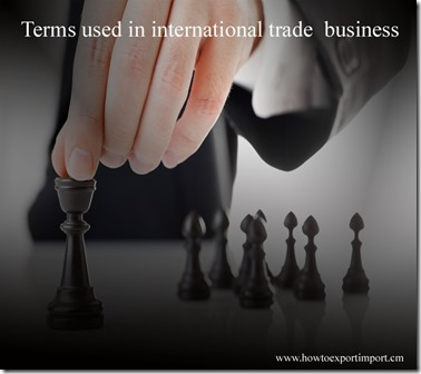 Terms used in international trade  business such as US Munitions List,Validated License,Validated Export License,Value date etc