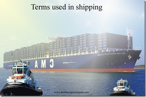 Terms used in shipping such ,Export Statistics,Exporter's Sales Price