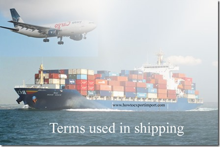 Terms used in shipping such Industrial List,Industry Subsector Analysis,Infant Industry,In-Flight Survey,Infrequent Exporter etc