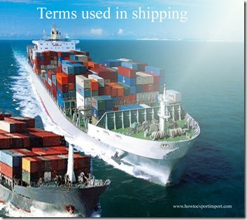 Terms used in shipping such as Arab,Arbitration Clause ,Arrest,Arrived Ship,As Agent Only,Appraiser's Stores etc