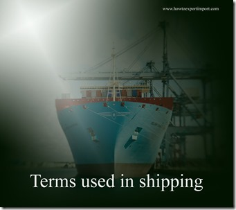 Terms used in shipping such as Barge,BARGE CARRIERS,Barter,Base Cargo,Bay number,Beam,Belly Cargo,Belt Line etc