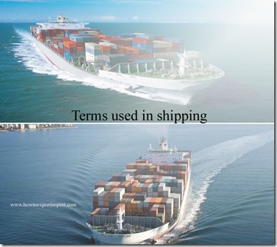 Terms used in shipping such as Bill of Ladinq, Bunker Surcharge, BackHaul, Backfreight, Backhaul etc