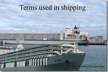 Terms used in shipping such as CATWALK,Census Interface System ,Center of Gravity,Certificate of Inspection etc