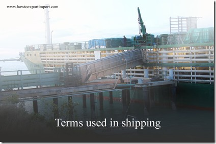 Terms used in shipping such as Charter Party Broker,Charterer's Bill of Ladinq,Charterer's Market , Chartering Agent ,Chassis etc