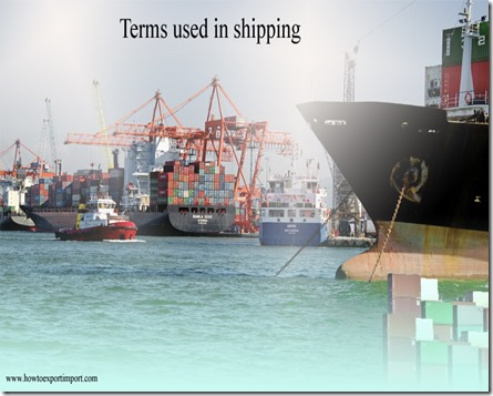 Terms used in shipping such as Conference,Conformite Europeene,Conlinebill,Consignee ,CONSIGNEE MARK etc