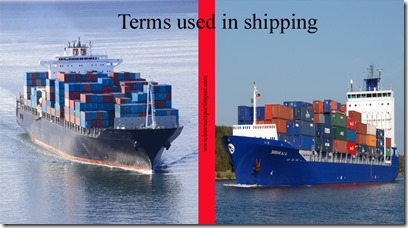 Terms used in shipping such as Container,Container,container chassis,container crane,Container leasing etc
