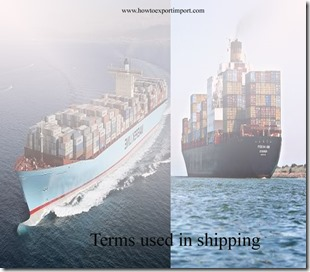 Terms used in shipping such as Containership,Contracting Parties,Controlled Atmosphere,Conventional ship, Custom of the Port etc