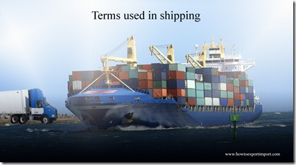 Terms used in shipping such as DRILLING UNIT,Dry Cargo,Dry-Bulk Container,Dumping,Dumping etc