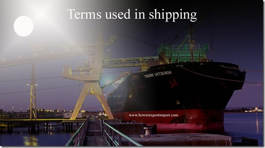 Terms used in shipping such as Economic Zones,Ecotourism,Export Enhancement Program,Extended Fund Facility etc
