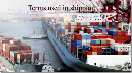 Terms used in shipping such as Estimated time of arrival of carriers,Estimated Time of Departure,European Union,Eurodollars etc