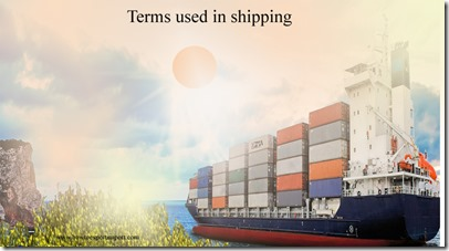 Terms used in shipping such as European Committee for Standardization,European Community,European Currency