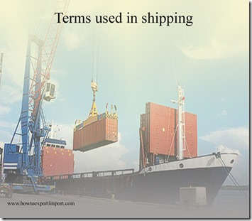 Terms used in shipping such as European Patent Office,European Space Agency,European Union etc