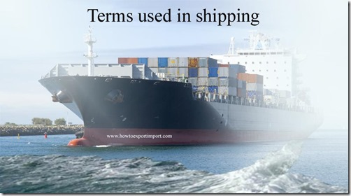 Terms used in shipping such as Gateway,GATT Panel,GDSM,Gencon,General Average Clause etc