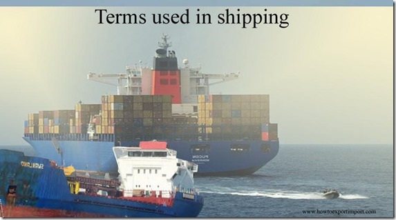 Terms used in shipping such as Gross Tonnage,Group of Fifteen,Group of Ten ,Group of Seven ,Gross Tonnage,General Sales Manager etc