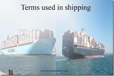 Terms used in shipping such as Gross Vehicle Weight,High water mark,Hatchway , HARD AGROUND,Hard Currency etc