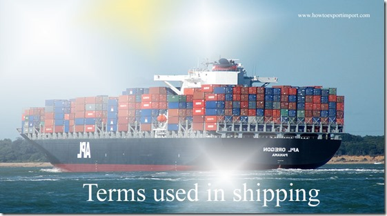 Terms used in shipping such as Interchange Points, Interchange , Interclub Agreement ,  INTERLINE PRICE,Interline Shipping etc