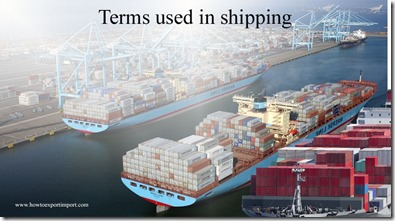 Terms used in shipping such as International Labor Organization,International Investment,International Munitions List etc