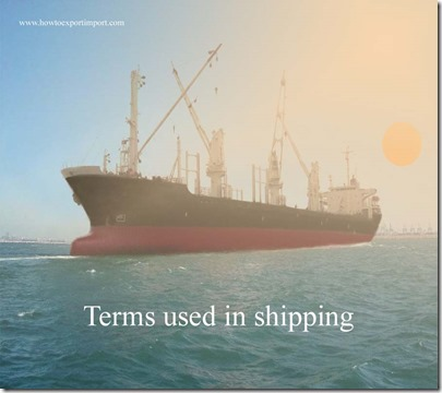 Terms used in shipping such as Korea Trade Promotion Corporation, Kommanditgesellschaft,Knot etc