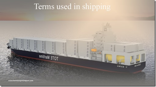Terms used in shipping such as LUMPER,Main Hatch,Made merchantable,Maastricht Treaty,Malicious damage etc
