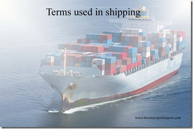 Terms used in shipping such as Low water,Lagan,Laisser Passer,LANDBRIDGE,Lash,landlord port,Lashing Gear etc