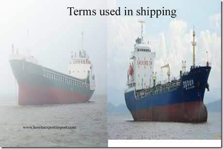 Terms used in shipping such as Negotiable Instruments,neo-bulk cargo,Nested,Net Weight,NET TONNAGE etc