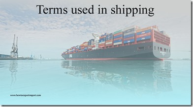 Terms used in shipping such as Quarantine Harbor,Quarantine Station,Quay,Quota,Quotation,Rye terms,Rail Division etc