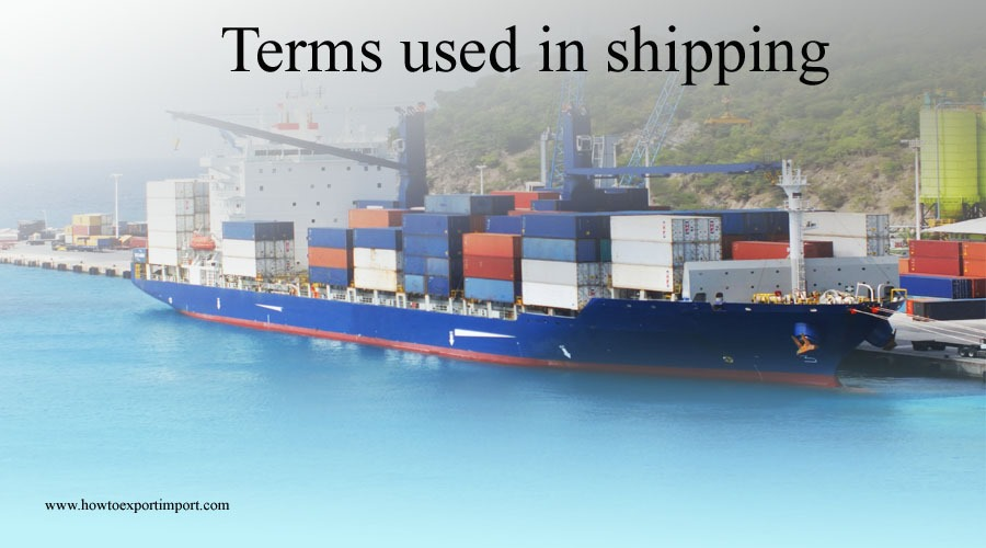 terms used in shipping such as receiver reciprocity recourse