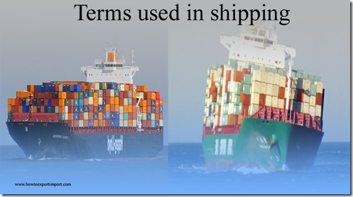 Terms used in shipping such as Sling, Slip,Sociedad Anonima,Societe Anonyme,Soft Loan  etc