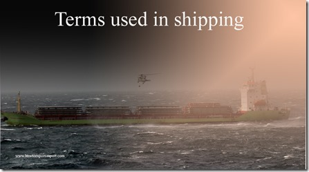 Terms used in shipping such as Technology,Technology Transfer,Telex Release,Tenor,Terminal Receiving Charge,Terminal etc