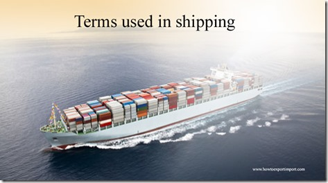 Terms used in shipping such as Uniform liability system,Union du Maghreb Arabe , Union of Banana Exporting Countries etc