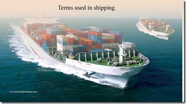 Terms used in shipping such as Voyage Charter,Voyage Direction,Voluntary Export Restriction
