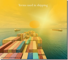 Terms used in shipping such as World Food Program,World Health Organization ,World Food Council